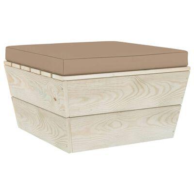 vidaXL Cojín para muebles de palés tela gris taupe 60x61,5x6 cm