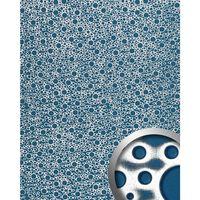 Wallface 11712-sa Panel De Pared Aspecto Metal Azul