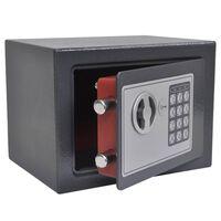vidaXL Caja fuerte digital electrónica 23x17x17 cm