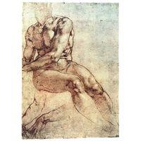 Impresión sobre lienzo - Estudio de desnudo masculino.