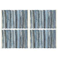 vidaXL Manteles individuales 4 uds Chindi vaquero algodón azul 30x45cm