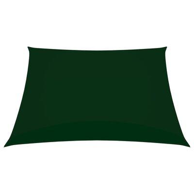 vidaXL Toldo de vela cuadrado de tela oxford verde oscuro 7x7 m