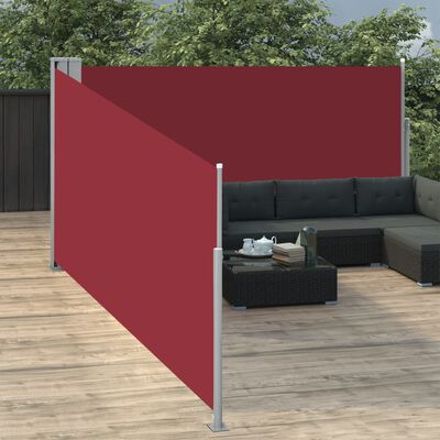vidaXL Toldo lateral retráctil rojo 140x1000 cm
