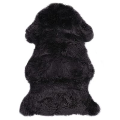 vidaXL Alfombra de piel de oveja gris oscuro 60x90 cm