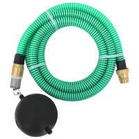 vidaXL Manguera de succión con conectores de latón 7 m 25 mm verde