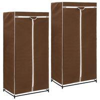 vidaXL Armarios 2 unidades marrón 75x50x160 cm