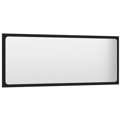 vidaXL Espejo de baño aglomerado negro 100x1,5x37 cm