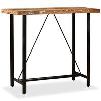 vidaXL Mesa de bar de madera maciza reciclada 120x60x107 cm