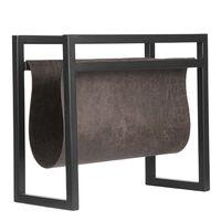 LABEL51 Revistero gris antracita 45x20x38 cm