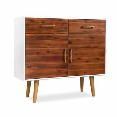 vidaXL Aparador de madera maciza de acacia 90x33,5x83 cm