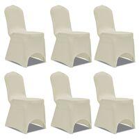 Set de 6 Fundas ajustadas para sillas, color crema