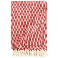 vidaXL Manta de algodón rojo 160x210 cm