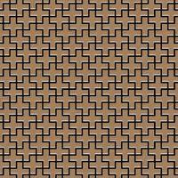 ALLOY Swiss Cross-Ti-AB Mosaico de metal sólido Titanio cobre