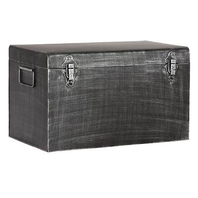 LABEL51 Caja de almacenaje Vintage negro envejecido L 50x30x30 cm