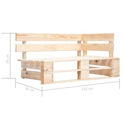 vidaXL Sofá de esquina de palets de jardín madera de pino impregnada