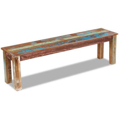 vidaXL Banco madera maciza reciclada 160x35x46 cm