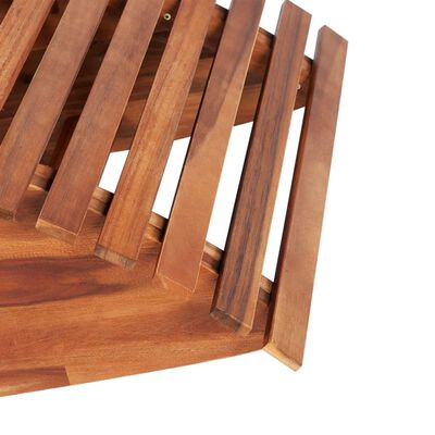 vidaXL Tumbona mecedora de madera de acacia