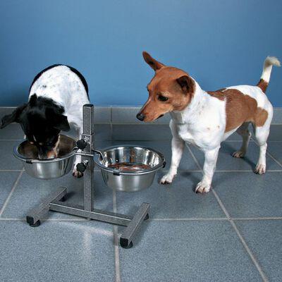 TRIXIE Soporte ajustable de cuencos para perros 3,6 L 20 cm 24921