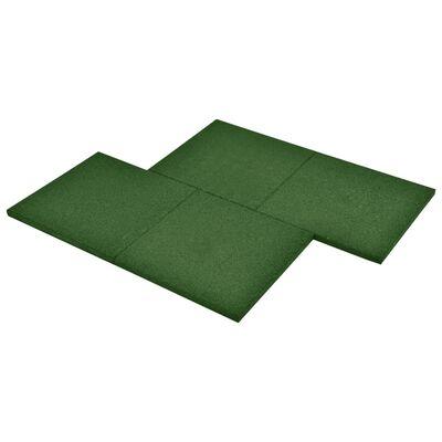 vidaXL Losetas de goma protección de caídas 12 uds verde 50x50x3 cm