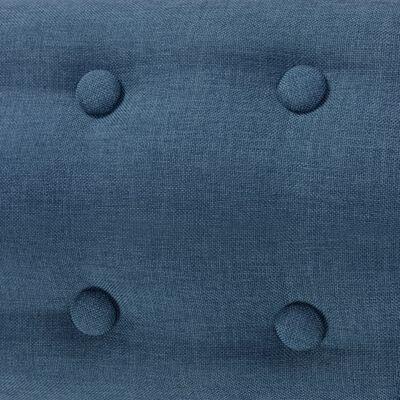 vidaXL Sillón de tela azul