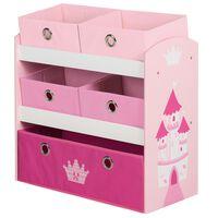 roba Unidad de almacenamiento de juguetes Crown rosa 63,5x30x60 cm MDF