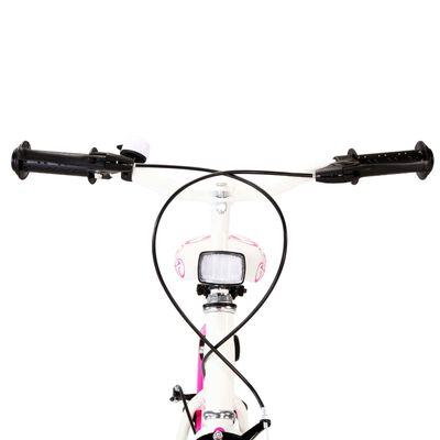 vidaXL Bicicleta para niños 24 pulgadas rosa y blanco