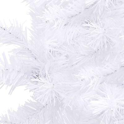 vidaXL Árbol de Navidad artificial de esquina blanco 120 cm PVC