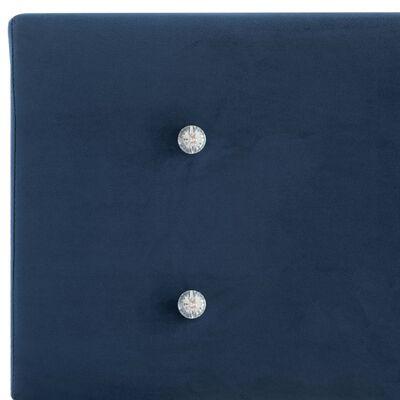 vidaXL Cama con colchón de terciopelo azul 140x200 cm