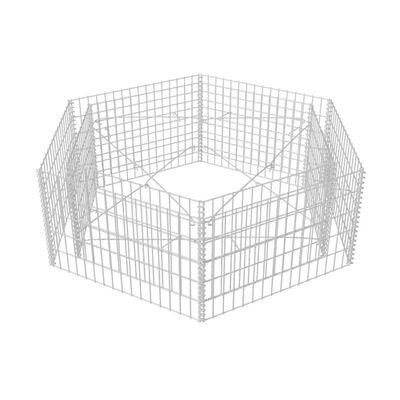 vidaXL Arriate hexagonal de gaviones 160x140x50 cm