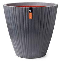 Capi Jarrón cónico Urban Tube redondo gris oscuro 55x52 cm