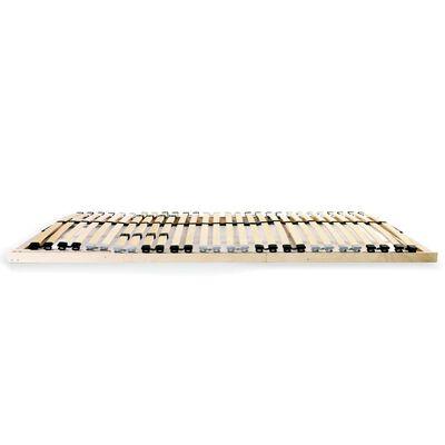vidaXL Somier de láminas con 28 listones de 7 regiones 140x200 cm