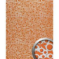 Wallface 11713-sa Panel De Pared Aspecto Metal Naranja