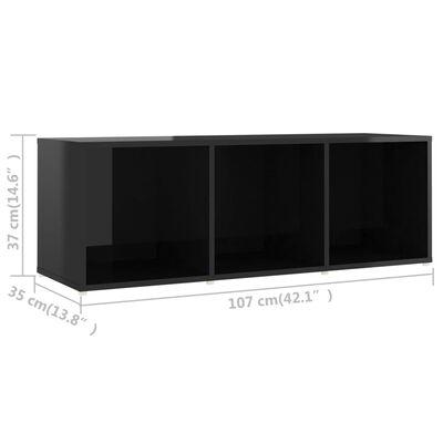 vidaXL Muebles para TV 4 uds aglomerado negro brillante 107x35x37 cm