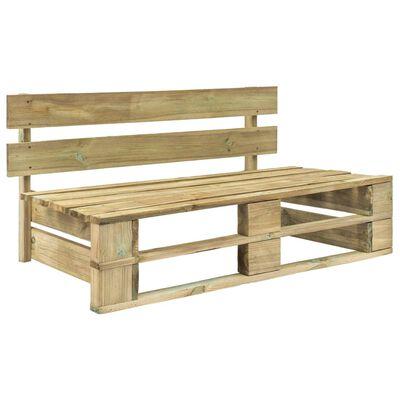 vidaXL Sofá central de palés para jardín madera pino impregnada verde