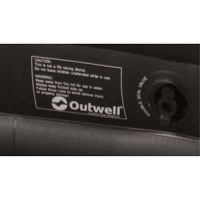 Outwell Colchón inflable Excellent Single gris y negro 200x80x30 cm