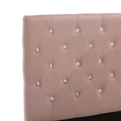vidaXL Estructura de cama de tela rosa 160x200 cm
