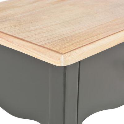 vidaXL Mesita de noche madera maciza de pino negro marrón 40x30x50 cm