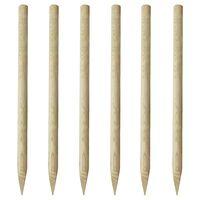 vidaXL Postes de valla 6 unidades madera 170 cm