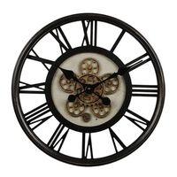 Gifts Amsterdam Reloj de pared Radar Open redondo negro 54,5 cm