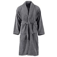 vidaXL Albornoz de rizo unisex 100% algodón gris antracita talla L