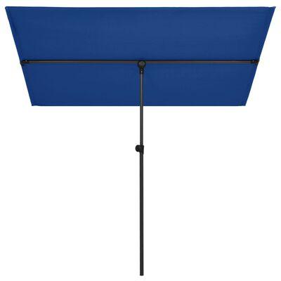 vidaXL Sombrilla de jardín con palo de aluminio azul celeste 180x130cm