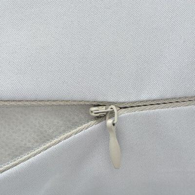 vidaXL Almohada de embarazo gris 90x145 cm