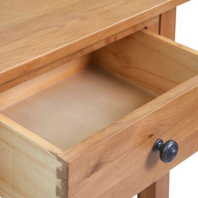 vidaXL Mesa consola de madera de roble maciza 50x32x75 cm