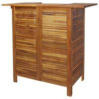 vidaXL Mesa alta de bar de madera de acacia maciza 110x50x105 cm