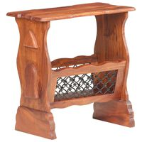 vidaXL Revistero de madera maciza de acacia 50x30x53 cm