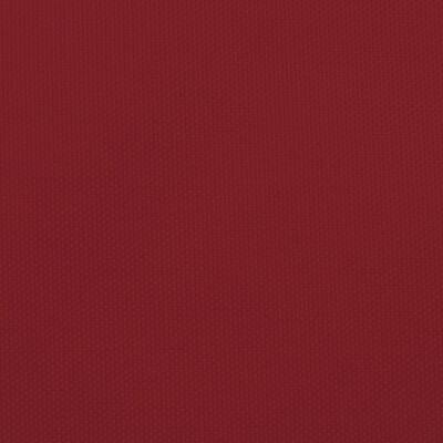 vidaXL Toldo de vela triangular de tela oxford rojo 4x5x5 m