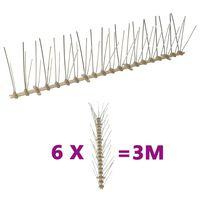 vidaXL Sets de 5 hileras de pinchos contra pájaros y palomas 6 uds 10m