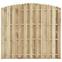 vidaXL Panel de valla madera de pino impregnada 180x(155-170) cm
