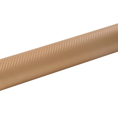 vidaXL Lámina para coches dorado mate 3D 200x152 cm