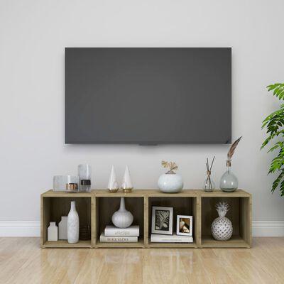 vidaXL Mueble para TV aglomerado color roble Sonoma 37x35x37 cm